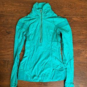 Turquoise lulu lemon tech running sweatshirt